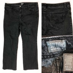 Additions by Chicos Black Denim Straight Leg Jeans